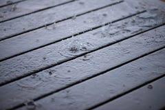 Splashing rainwater droplets close up Royalty Free Stock Photo