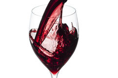 Splashing red wine Stock Photo