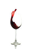 Splashing red wine Stock Photos