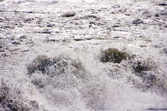 Splashing sea wave in Andalusia Spain Stock Images