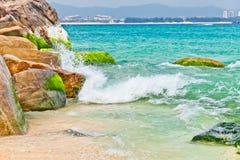 Splashing sea wave crashing Stock Photo