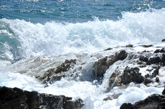 Splashing sea wave Royalty Free Stock Photography