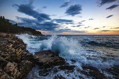 Splashing Sea Waves Stock Photo