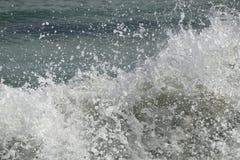 Splashing sea waves stock image