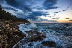 Splashing Sea Waves Royalty Free Stock Photo