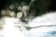 Splashing wakeboard Royalty Free Stock Photos