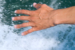 Splashing in water Stock Photography