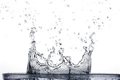 Splashing water stock photography
