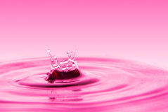 Splashing water drops Royalty Free Stock Images