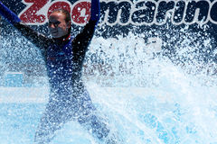 Splashing In The Water - EDITORIAL USE Royalty Free Stock Photo