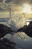 Splashing water in the sea Royalty Free Stock Photo