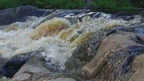 Splashing water in slow motion stock footage