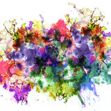 Splashing watercolor effect Royalty Free Stock Photography