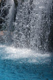 Splashing waterfall. Crystal clear waterfall close up Royalty Free Stock Photo