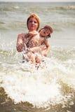Splashing wave Stock Images