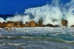 Splashing wave royalty free stock photo