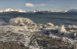 Splashing wave at Land's End Stock Photography