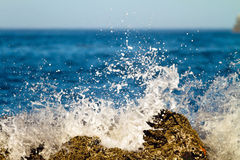 Splashing wave Stock Image