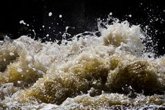 Splashing waves Royalty Free Stock Photos