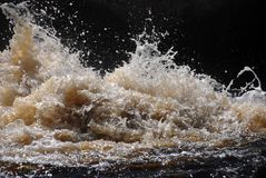 Splashing waves Royalty Free Stock Photography
