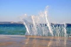 Splashing waves Stock Photos