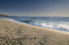 Splashing waves Stock Image