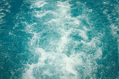 Splashing waves in blue sea Royalty Free Stock Images