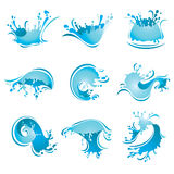 Splashing Waves and Water,. Sign Royalty Free Stock Photography