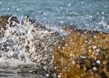 Splashing waves Stock Images