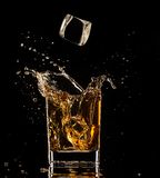 Splashing whiskey Royalty Free Stock Image