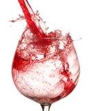 Splashing wine Royalty Free Stock Images