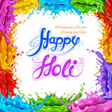 Splashy Happy Holi background Stock Photography
