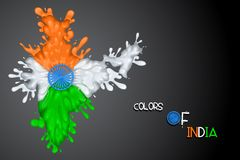 Splashy Indian Flag Royalty Free Stock Photo