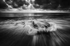 Splashy waves on beach