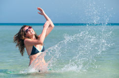 Splasing in the sea Royalty Free Stock Photo