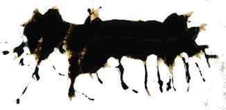 splat картины чернил Стоковое Изображение RF