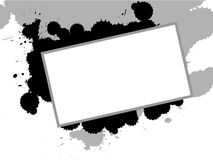Splat. Black and white  ink splats and board designed using illustrator Royalty Free Stock Photo