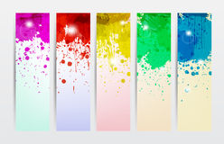 Splat Banners. In different colors for web or anything Royalty Free Stock Photography