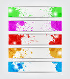 Splat Banners Stock Image