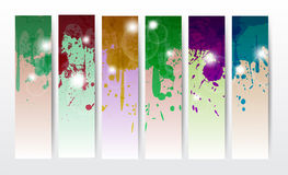 Splat Banners Stock Photography