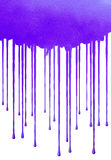 Splat Blue. A drippy splattey blob Royalty Free Stock Photography