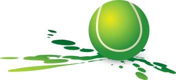 Splat de la pelota de tenis Imagen de archivo libre de regalías
