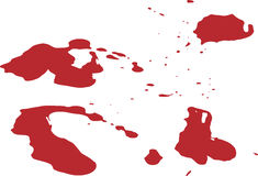 Splat de la sangre Foto de archivo libre de regalías