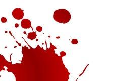 Splat de la sangre Fotografía de archivo libre de regalías