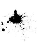 Splat de la tinta Imagen de archivo libre de regalías