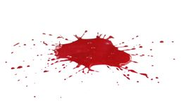 Splat de sang photo stock