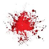 Splat del splat de la sangre Imagen de archivo libre de regalías