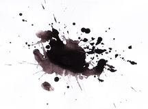 Splat dell'inchiostro Immagine Stock