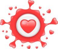 Splat do amor ilustração do vetor