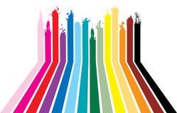 Splat do arco-íris Foto de Stock